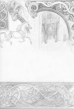 alan_lee_the lord of the rings_sketchbook_10_edoras06_med.jpg (338×500)