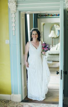 lace embellished wedding gown - Read More on One Fab Day http://onefabday.com/rathmullan-house-wedding-by-darek-novak/