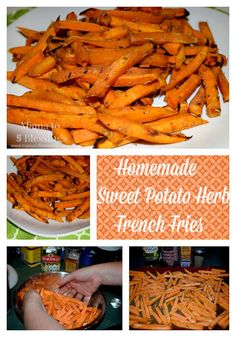 Homemade Sweet Potato Herb French Fries http://mamato5blessings.com/2015/09/homemade-sweet-potato-herb-french-fries/