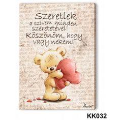 Falikép, maci, szeretlek, piros szív Cute Words, I Love You, My Love, Lany, Animals And Pets, Emoji, Winnie The Pooh, Bff, Decoupage