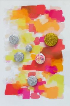 We just love the colors in Best Friends For Frosting's post on making sparkling magnets with Martha Stewart Crafts Glitter. #12monthsofmartha #marthastewartcrafts