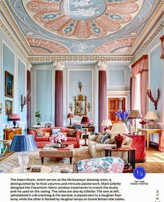 Architectural Digest May 2014 The Adam Room