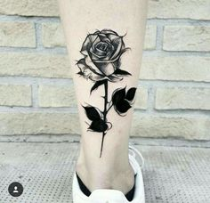 I want this but somewhere else Baby Tattoos, Mini Tattoos, Flower Tattoos, Body Art Tattoos, Small Tattoos, Sleeve Tattoos, Rose Tattoos For Women, Black Rose Tattoos, Tattoos For Guys