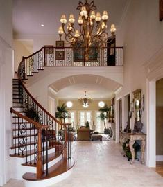 New Interior Stairs Architecture Banisters Ideas Dream House Interior, Interior Stairs, Dream Home Design, Modern House Design, Home Interior Design, Curved Staircase, Staircase Design, Grand Staircase, Foyer Flooring