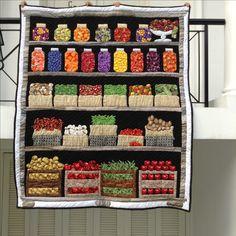Candy Jar Quilt - Looks good enough to eat!   Quilting ideas ... : mason jar quilt shop - Adamdwight.com