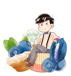 Find images and videos about blue, anime and anime boy on We Heart It - the app to get lost in what you love. Anime Love, All Anime, Me Me Me Anime, Anime Guys, Onii San, Otaku, Chibi Food, Another Anime, Ichimatsu
