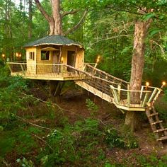 Building a treehouse for kids and adults, before and after  -  from thisoldhouse.com | from Best Shed and Outbuilding Before and Afters 2012. 32 structures
