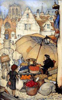A Polar Bear's Tale: The fruit seller...Anton Pieck