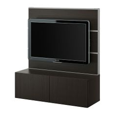 BESTÅ/FRAMSTÅ TV/storage combination - black-brown - IKEA - $170.00