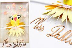 paper art collage miss dahlia par Camille Epplin