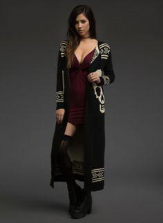 Skull Knit Duster | Clothing from Blackheart Lingerie