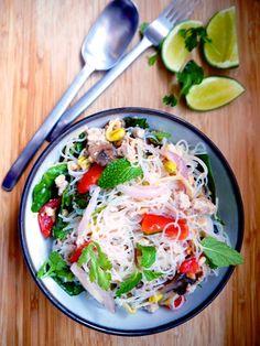 Yum Woon Sen   Spicy Thai Glass Noodles Salad Recipe   ยำวุ้นเส้น