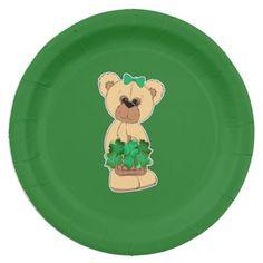 Sweet Teddy Bear St.Patricku0027s Day Paper Plates  sc 1 st  Pinterest & Sweet Teddy Bear St.Patricku0027s Day Paper Plates | Teddy bear
