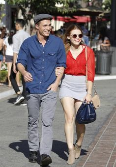 Holland Roden and Colton Haynes