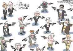 Bagley cartoon: Coalition to Defeat ISIS Caricature, Satirical Cartoons, Political Cartoons, Paris 13, Reservoir Dogs, Humor Grafico, Embedded Image Permalink, The Expanse, Israel