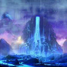 Fantasy Scenes – Animal Wallpaper And iphone Fantasy Art Landscapes, Fantasy Landscape, Landscape Art, Fantasy Concept Art, Fantasy Artwork, Fantasy Places, Fantasy World, Art Visionnaire, Japon Illustration