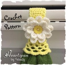 CROCHET PATTERN for Kitchen or Bath Towel Topper Ring with decorative skirt and…