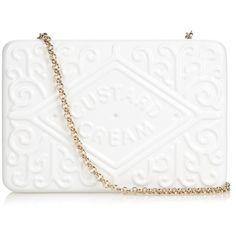 Anya Hindmarch Custard Cream brass clutch ($708) ❤ liked on Polyvore featuring bags, handbags, clutches, bolsa, purses, sac, white crossbody, hand bags, crossbody handbag and handbags purses