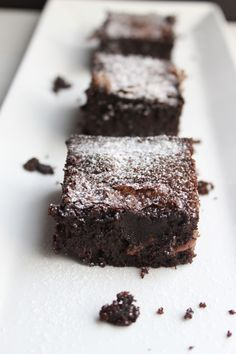 A recipe for the best gluten-free brownies that happen to be dairy-free too! Dense and chocolatey these hit the spot!
