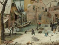Winter Landscape with Ice Skaters, Hendrick Avercamp, c. 1608 - Search - Rijksmuseum