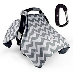 Bonafide Baby Car Seat Cover Chevron with Free Stroller Hook Grey -- Click image to review more details.-It is an affiliate link to Amazon. #BabyStrollers