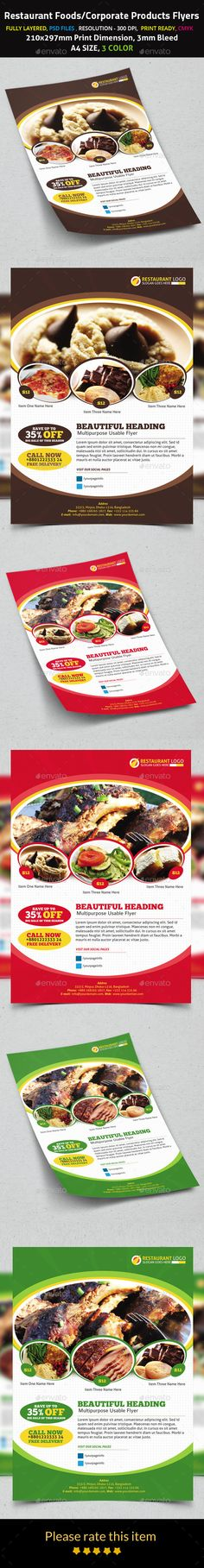 Restaurant Foods/Corporate Products Flyers - Corporate Flyers