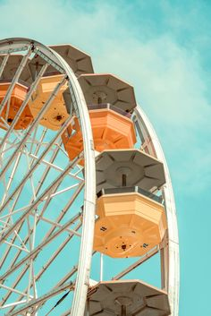 Vintage Aesthetic Discover Pacific Park Ferris Wheel No. 3 by Dario Preger (Color Photograph)