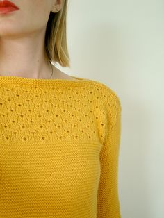 Ravelry: Project Gallery for paletot point de broderie anglaise pattern by Dany Edan Knit Or Crochet, Lace Knitting, Knitting Stitches, Knitting Designs, Knitting Patterns Free, Knit Patterns, Knitting Projects, Free Pattern, Pullover Shirt