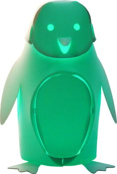 Mini Zzzoolight Pinguino (penguin) Night Light. A beautiful addition to the Zoolight world is the colour changing mini light.  You can change colours with a double clap or cycle through the full spectrum of colours.  Made from polypropylene sheet, and designed by Italian architect, Ramin Razani, these white lamps are virtually unbreakable.  Designed and produced in Italy $55.95