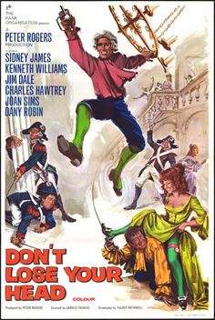 Carry On Don't Lose Your Head film poster Old Movie Posters, Cinema Posters, Movie Poster Art, Film Posters, Comedy Movies, Film Movie, Horror Movies, Comedy Actors, Watch Movies