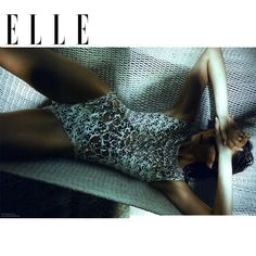 Agua de CoCo 2013 laser cut one piece swimsuit in ELLE Brazil magazine