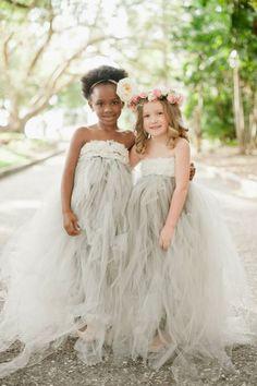32 Preciosos Vestidos de Niñas para Bodas - Flower Girl - Bodas
