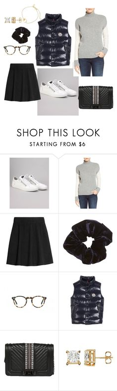 """""""Touring Rome"""" by design360 ❤ liked on Polyvore featuring Antony Morato, Halogen, H&M, Oliver Peoples, Moncler and Rebecca Minkoff"""