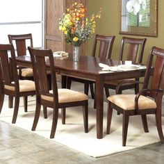 Alpine Furniture Saratoga Dining Table with Extension Leaf www.homezazz.com/product/alpine-furniture-saratoga-dining-table-with-extension-leaf/ #dining #table #chair #set #furniture #wood #elegant #home #shopping #sale #deals