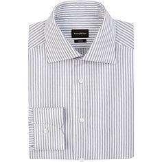 Ermenegildo Zegna Men's Striped Rossini Shirt ($229) ❤ liked on Polyvore featuring men's fashion, men's clothing, men's shirts, men, navy, old navy mens shirts, mens navy blue shirt, mens stripe shirts, mens striped dress shirts and mens striped shirt