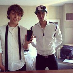Keaton and Wesley Stromberg #emblem3 <3