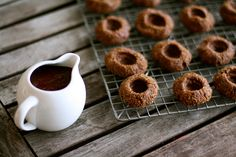 chocolate thumbprint cookies    by thekitchensink