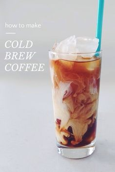 how to make COLD BREW COFFEE On a warm day what's more refreshing than a really good iced coffee? Here is a great way to make cold brew coffee that does not involve pouring hot coffee over ice. ONE Place 1 and 1/3 cups of ground coffee in a jar and