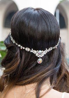 Silver Headpiece, Swarovski Crystals, Wedding Headpiece, Silver Boho Headpiece, Boho Wedding Headpiece, Bridal Headpiece, Accessories for Wedding