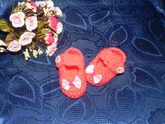 SCARPETTE BALLERINE rosa BIMBA FATTE A MANO UNCINETTO : Moda bebè di ciuppino