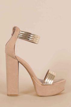 Find a range of ankle strap chunky platform #heels only at #instacraze
