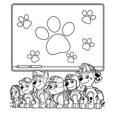 free printable paw patrol coloring pages for kids. print out and color your favorite coloring