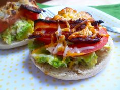 Whats Baking in the Barbershop?: Tuna, Avocado, Bacon, Tomato OpenFaced Sandwich Melts, OpenFace Egg and Griddled Ham Breakfast Sandwiches. Bacon Sandwich Recipes, Bacon Breakfast Sandwiches, Ham Breakfast, Breakfast Recipes, Bacon Avacado, Tuna Avocado, Sandwich Melts, Fish Sandwich, Zone Recipes