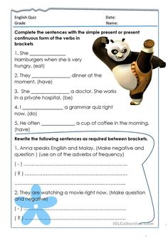 Quiz: present simple and continuous
