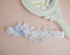 Podwiązka z niebieską kokardką :) Wedding Garters