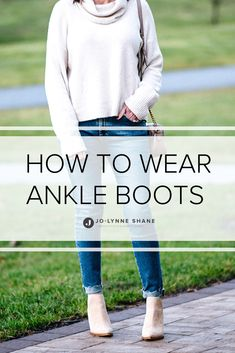 How to Wear Ankle Boots 2020 - - Thought you couldn't wear ankle boots over Think again! In this post I'll show you How to Wear Ankle Boots Over 40 and look great! With photos! Ankle Booties Outfit, Ankle Boots With Jeans, How To Wear Ankle Boots, Ankle Boot Outfits, Spring Outfits Women, Casual Winter Outfits, Classic Outfits, Classic Clothes, Fashion Models