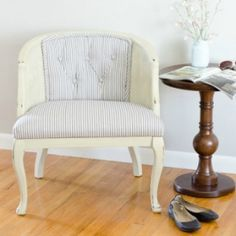 Learn how to reupholster a tufted back cane chair with these tips and tricks including supplies you'll need to get started.