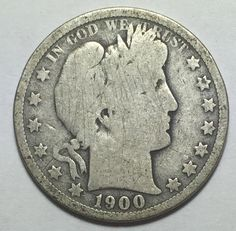 90% Silver 1900-O Barber Half Dollar. Take a LOOK!