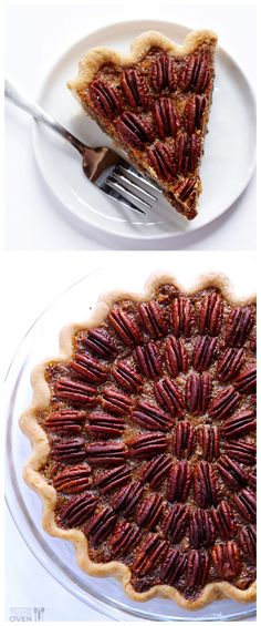 The BEST Pecan Pie -- simple to make, and all of my friends and family agree it's their favorite! | gimmesomeoven.com