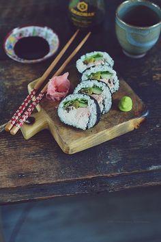 Smaki Alzacji : Test garna do gotowania ryżu i sushi z pieczonym ł...